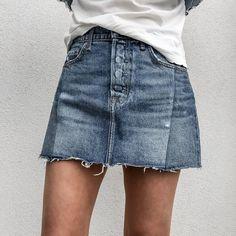cabananewyork.com   GRLFRND Dancing Queen Claudia Denim Mini Skirt