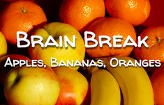 Teaching Spanish w/ Comprehensible Input: Brain Break: Apple, Banana, Orange