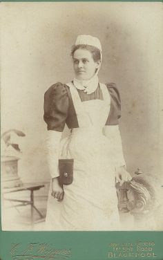Cabinet Card Unidentified Nurse Blackpool
