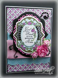 JustRite Card designed by Sheri Holt using Spring Rose Medallions