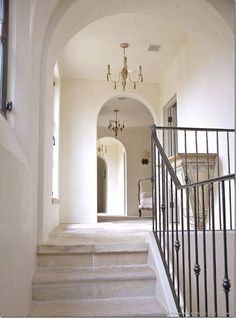 italian wrought iron staircase with stone stairs and foyer - Bing images Interior Stairs, Home Interior, Architecture Details, Interior Architecture, Iron Stair Railing, Stone Stairs, Stairways, My Dream Home, New Homes