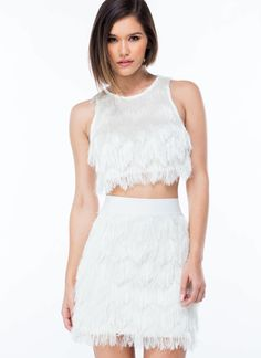 Shake My Tail Feathers Fringe Skirt