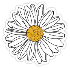 'Daisy' Sticker by 201195 a pretty daisy, just like you! xo • Also buy this artwork on stickers, apparel, kids clothes, and more. Stickers Cool, Cute Laptop Stickers, Bubble Stickers, Phone Stickers, Printable Stickers, Planner Stickers, Aesthetic Stickers, Grafik Design, Drawstring Bags