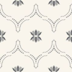WILDFLOWER_JASMIN_GREY - Spoonflower