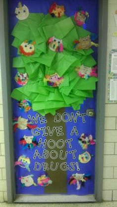 Door decoration for red ribbon week