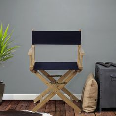 Shop for Extra-Wide 18-inch Premium American Oak Directors Chair. Get free shipping at Overstock.com - Your Online Furniture Outlet…