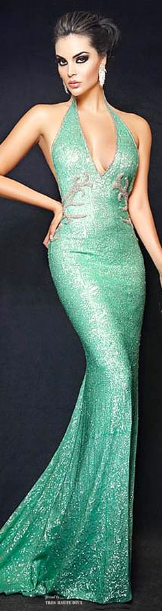 Camille Flawless 'Mermaid' Teal Sequins