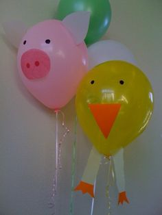 DIY farm animal balloons