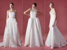 Structured Simplicity for Oscar de la Renta's Fall 2016 Wedding Dress Collection | TheKnot.com