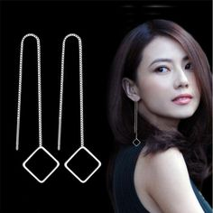 Brighten up your look, add punk cool looking.Used for gift-giving occasions: tourism. transparent nail polish on the surface of jewelry before wearing. Minimalist Earrings, Minimalist Jewelry, Transparent Nails, Birthday Gifts For Women, Korean Fashion, Dangle Earrings, Arrow Necklace, Triangle, Dangles