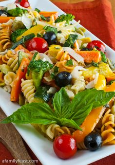 Pasta Primavera - A really delicious and colorful way to eat your spring vegetables!