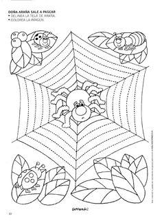 schrijfpatroon herfst / autumn, free printable