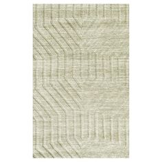 Rizzy Home Technique Collection Hand-Loomed 100% Wool Accent Rug - Light Gray (3' x 5'), Lt Grey