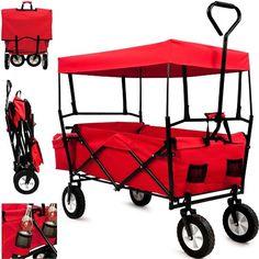 Garden Trolley Cart Folding Transport Hand Truck Trailer Utility Cart 100kg Removable Roof - Model 2016