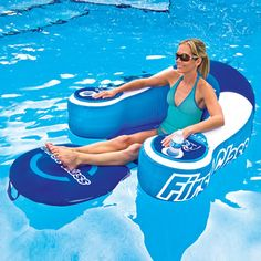 The Drink Cooling Pool Lounger - Hammacher Schlemmer