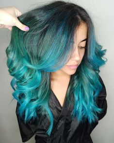 Amazing multidimensional teal look by - try our Neptune Pack for a similar style! Teal Hair Dye, Dark Teal Hair, Red And Teal, Dye My Hair, Deep Teal, Blue Hair, Wedding Scene, Hair Wedding, Beautiful Hair Color