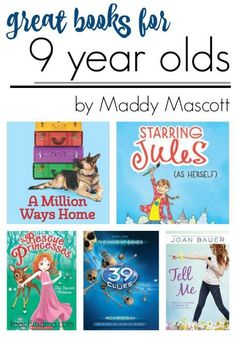 Great books for 9 year olds to encourage them to read! Good books have to be interesting and have the right level of vocabulary for the reader. These books are perfect for nine year olds! Great resource list for teachers and parents of young kids! #reading #teachkids #readingresources #learning #literacy #booklists #books #teachmama