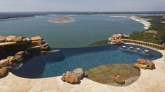 A #pool with an amazing view of Lake Travis near #Austin, #Texas. Photo by Ricardo Brazziell, American-Statesman. #lakeview