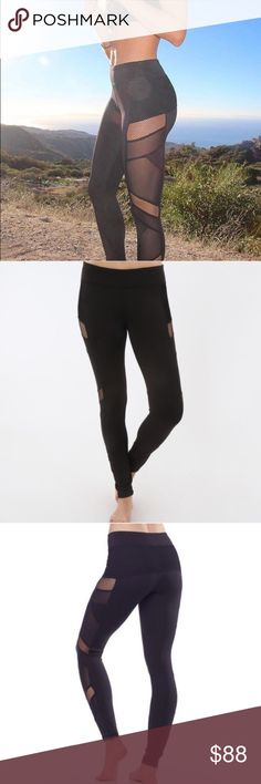 Sexy Mesh panel leggings Sexy Mesh panel workout leggings are so hot! You work for it so go for it and sport these everywhere - not just to the gym or Pilates - run your errands in these and see where the day takes ya👌abs no returns - please ask any questions. Great support for both a work out and on the streets.  Fabric Content88% Polyester 12% Spandex Fabric CareMachine wash cold, do not bleach, dry flat, iron low, do not dry clean, wash and dry with like colors. Beverly Hills based…