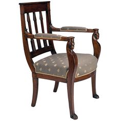 Attr. to Georges Jacob, French Empire Armchair in the Egyptian Style, c. 1810 | From a unique collection of antique and modern armchairs at http://www.1stdibs.com/furniture/seating/armchairs/