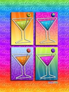 Some Tips for making MOCKTAILS aka Virgin - Non-alcoholic Cocktails. Click the pop art martinis for all the tips!