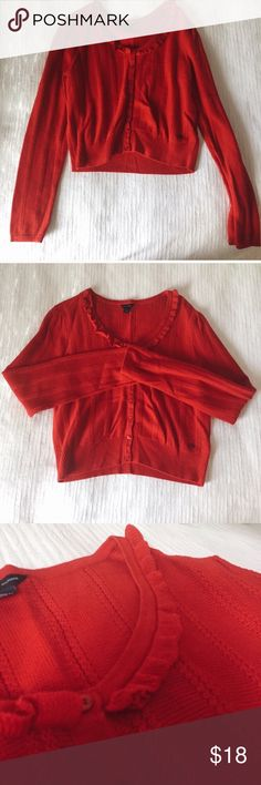 Tommy Hilfiger red cardigan 🍒 100% cotton, never worn! Tommy Hilfiger Shirts & Tops Blouses