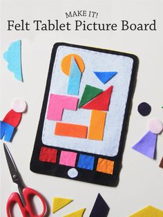 Bloesem Kids: DIY Felt Tablet Picture Board - Paper and Pin