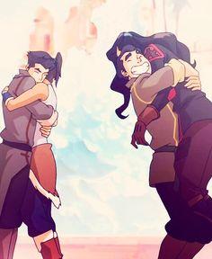 Legend of Korra: team avatar hugs!