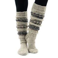 Wool Socks, Knitting Socks, Sock Toys, Thick Socks, Vintage Wool, Knitted Bags, Leg Warmers, Bunt, Knit Crochet