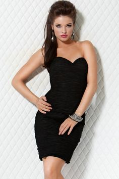 95479073f8bd0 black-strapless-cocktail-dress- Tight Prom Dresses, Strapless Cocktail  Dresses,