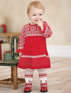 Been coveting this lil winter sweater dress for Helen for awhile.