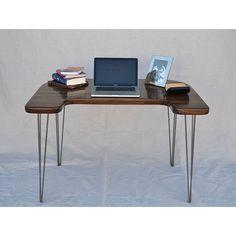 walnut computer desk by wicked boxcar | notonthehighstreet.com