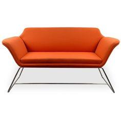 Shrimpton Sofa Orange (1,200 NZD) ❤ liked on Polyvore featuring home, furniture, sofas, orange furniture, orange couch and orange sofa