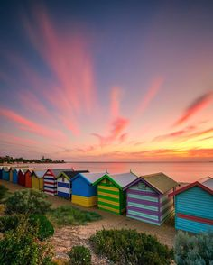 Brighton Bathing Boxes, Brighton, Melbourne, Australia. Australia Shotz Artist: @shirley7