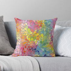 Rainbow Water, Throw Pillows, Bed, Home Decor, Toss Pillows, Decoration Home, Stream Bed, Room Decor, Decorative Pillows