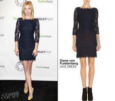 Black lace DVF dress