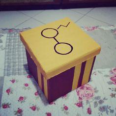 Diy caixa decorativa Harry Potter geek