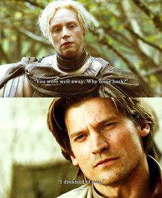 Spoilerissimo per chi non ha letto i libri!!!  Le cronache del ghiaccio e del fuoco Jaime & Brienne