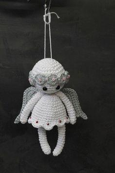 Crochet angel Christmas ornament Home decor Crochet Christmas Decorations, Crochet Ornaments, Christmas Crochet Patterns, Christmas Knitting, Crochet Patterns Amigurumi, Crochet Dolls, Christmas Crafts, Crochet Gifts, Cute Crochet