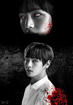 Taehyung Fanart, Jimin Fanart, Kpop Fanart, Bts Taehyung, Foto Bts, Bts Photo, V Bta, Vampire Boy, V Bts Wallpaper