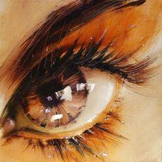 El artista ucraniano Pavel Guzenko logra capturar la mirada brillante de los seres humanos con su grandiosa técnica impresionista.