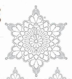 Crochet White Snowflake Tree Ornaments Christmas Snowflakes Set Of 6 Ornaments Hand Crochet Snowflake Tree Decoration Winter Wedding Decor Crochet Snowflake Pattern, Crochet Stars, Crochet Motifs, Crochet Snowflakes, Crochet Diagram, Doily Patterns, Crochet Doilies, Crochet Flowers, Crochet Patterns