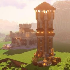 Minecraft Tower, Minecraft Pixel, Minecraft Kingdom, Minecraft Posters, Minecraft Building Guide, Minecraft Structures, Minecraft Plans, Amazing Minecraft, Cool Minecraft Houses