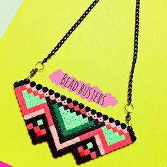 Geometric necklace hama beads by beadbusters