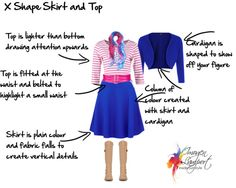 X shape skirt and top