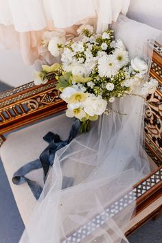 An elegant blue and white bridal bouquet | Images by Lane Albers Photography + Tiffany Photography Co + blkphoto + co