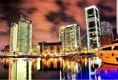 The sparkle of Beirut, even beautiful in its reflection