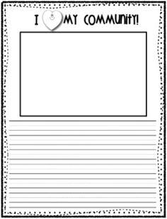 Social Work 1st grade writing paper