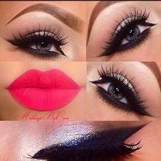Bold Lips and Eyes