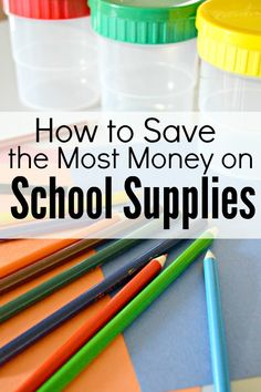 How to save money on school and homeschooling supplies!